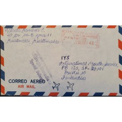A) 1981, GUATEMALA, SPECIAL DELIVERY, METER STAMP, SHIPPED TO FINLAND, AIRMAIL
