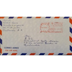 A) 1981, GUATEMALA, FROM ZONA 19 TO FINLAND, POSTAL STATIONARY, AIRMAIL