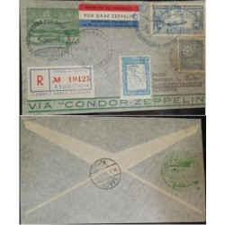 A) 1936, PARAGUAY, GRAF ZEPPELIN, FROM ASUNCION TO GERMANY, AIRMAIL, REGISTERED, MAP OF PARAGUAY