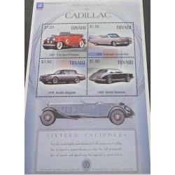 J) 1983 TUVALU, CADILLAC, CLASSIC CARS, SOUVENIR SHEET, XF
