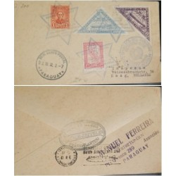 A) 1932, PARAGUAY, AIRMAIL, FROM ASUNCION TO HOLLAND, CONDOR-ZEPPELIN STAMP