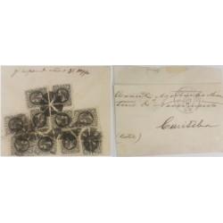 A) 1892, BRAZIL, FROM RIO DE JANEIRO TO CURITIBA, EMPEROR PETER II STAMPIN BLACK