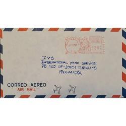 A) 1982, GUATEMALA, AIRMAIL, METER STAMP, QUETZAL, SHIPPED TO TURKU- FINLAND