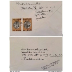 A) 1983, GUATEMALA, SPECIAL DELYVERY, COVER SHIPPED TO FINLAND, AIRMAIL, CENTAVO A POPOL VUH FOUNDATION STAMP