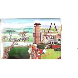 A) 1985, KENYA, POPE JUAN PABLO II, 43rd INTERNATIONAL EUCHARIST CONGRESS, NAIROBI, MINISHEET, MULTICOLORED