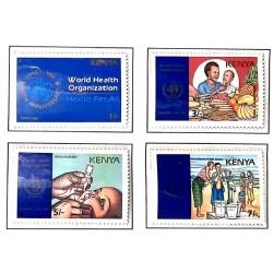 A) 1988, KENYA, 40 ANNIVERSARY OF THE WORLD HEALTH ORGANIZATION, ANAGRAM, NUTRITION