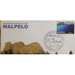 O) 2016 COLOMBIA, NATURAL HERITAGE OF HUMANITY OCEAN ISLAND -MALPELO, CARTOR, FDC XF