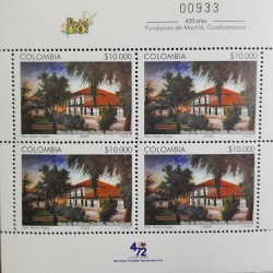 A) 2009, COLOMBIA, 450 ANNIVERSARIES OF THE FOUNDATION OF MADRID CUNDINAMARCA, MNH, THOMAS GREG & SONS, MULTICOLORED, BLOCK OF 4