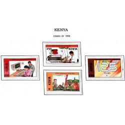 A) 1990, KENYA, ANNIVERSARY OF THE INTERNATIONAL TELECOMMUNICATIONS UNION, 125 YEARS, SET OF 4 STAMPS