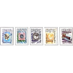 A) 1990, KENYA, BRITISH EAST AFRICA SEAL CENTENARY, MULTICOLORED, SET OF 5 STAMPS