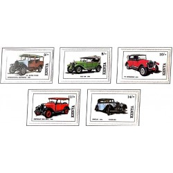 A) 1992, KENYA, CARS, INTERNATIONAL HARVESTER 1926, FIAT 509. 1924, HUPMOBILE R 1923
