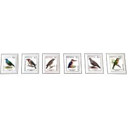 A) 1993, KENYA, BIRDS SUPERB CORN, RED-HEADED BEARD, LARGE INDICATOR, KINGFISHER MALAQUITA,