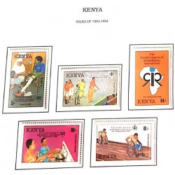 A) 1993, KENYA, SET OF 5 STAMPS, INTERNATIONAL CONGRESS ON REHABILITATION, MULTICOLORED