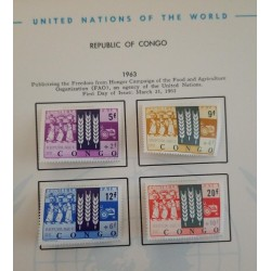 J) 1963 REPUBLIC OF CONGO, PUBLICIZITING THE FREEDOM FROM HUNGER CAMPAIGN OF THE FOOD AND AGRICULTURE ORGANIZATION (FAO)