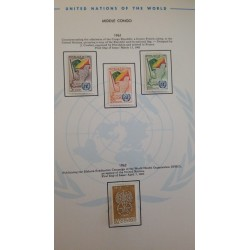 J) 1961 CONGO, COMMEMORATING THE ADMISION OF REPUBLIC OF COGO, MAP AND FLAG, PAGE NOT INCLUDED UNLESS