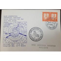 A) 1990, URUGUAY, ARTIGAS ANTARCTIC SCIENTIFIC BASE, FIRST WINTER FLIGHT, JUAN ANTONIO LAVALLEJA STAMP