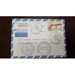 A) 1990, URUGUAY, ARTIGAS ANTARCTIC SCIENTIFIC BASE, AIRMAIL, AIRMAIL, BICENTENNIAL FOUNDATION HOSPITAL CARIDAD STAMP