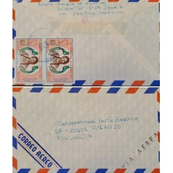 A) 1976, GUATEMALA, FROM ZONA 7 TO FINLAND, AIRMAIL, INTERNATIONAL YEAR OF WOMEN