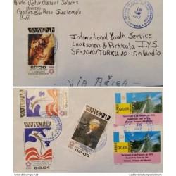 A) 1977, GUATEMALA, FROM SANTA ROSA TO FINLAND, AIRMAIL