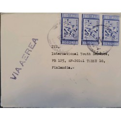 A) 1978, GUATEMALA, LETTER SENT TO FINLAND, AIRMAIL, CENTENARY OF THE SCHOOL OF ENGINEERING STAMP, XF