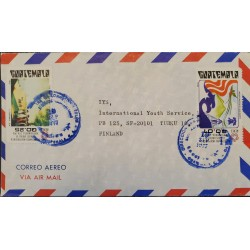 A) 1977, GUATEMALA, COVER SHIPPED TO FINLAND, QUETZAL AND THE BELL OF LIBERTY, GENERAL IN YORK TOWN
