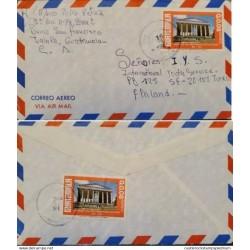 A) 1986, GUATEMALA, FROM JALAPA TO FINLAND, AIRMAIL, CENTENARY INDEPENDENCE FAIR QUETZALTENANGO, XF