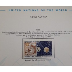 J) 1965 CONGO, COMMEMORATING THE CENTENARY OF THE INTERNATIONAL TELECOMMUNICATIONS UNION, PAGE NOT INCLUDED UNLESS