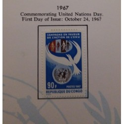 J) 1967 CONGO, COMMEMORATING UNITED NATIONS DAY, PAGE NOT INCLUDED UNLESS CUSTOMER CONTACT