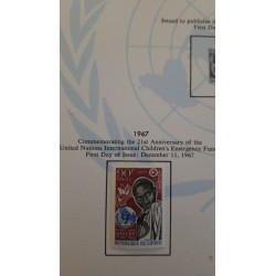J) 1967 CONGO, COMMEMORATING THE 21ST ANNIVERSARY OF THE UNITED NATIONS INTERNATIONAL CHILDREN'S EMERGENCY