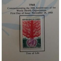 J) 1968 CONGO, COMMEMORATING THE 20TH ANNIVERSARY OF THE WORLD HEALTH ORGANIZATION, PAGE NOT INCLUDED UNLESS