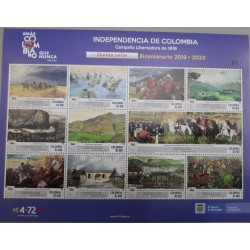A) 2021, COLOMBIA, SERIE V, THE 200TH ANNIVERSARY OF THE INDEPENDENCE OF COLOMBIA