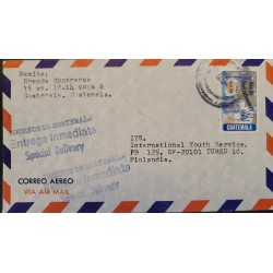 A) 1979, GUATEMALA, FROM ZONA 6 TO FINLAND, SPECIAL DELIVERY, AIRMAIL, QUETZALTENANGO YEAR STAMP, XF