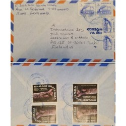 A) 1978, GUATEMALA, FROM ZONA 10 TO FINLAND, AIRMAIL, MIGUEL ANGEL ASTURIAS CULTURAL CENTER