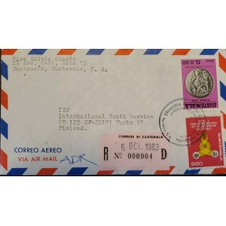 A) 1983, GUATEMALA, REGISTERED, FROM ZONA 15 TO FINLAND, AIRMAIL,