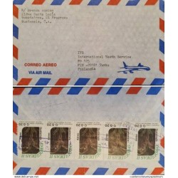 A) 1987, GUATEMALA, ORCHIDS, FROM EL PREOGRESO TO FINLAND, AIRMAIL, MULTIPLE STAMPS