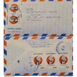 A) 1987, GUATEMALA, COVER SHIHPPED TO FINLAND ADDRESSED TO INTERNATIONAL YOUTH SERVICE,