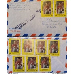 A) 1981, GUATEMALA, FROM NIMAJUYU TO TURKU-FINLAND, SPECIAL DELIVERY, AIRMAIL