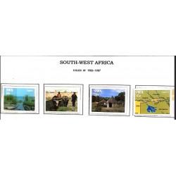 A) 1986-87, SOUTH-WEST AFRICA, CAPRIVI STRIP, SCOTT 574-577, LAKE LIAMBEZI