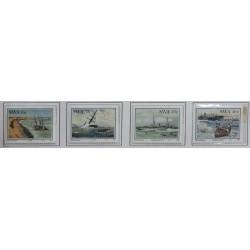 A) 1987, SOUTH-WEST AFRICA, SHIPWRECKS, SCT.590-593, 16c HOPE 1804, 30c TILLY 1885