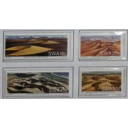 A) 1989, SOUTH-WEST AFRICA, NAMIB DESERT SAND DUNES, SCOTT 618-621, 18c BARCHAN DUNES