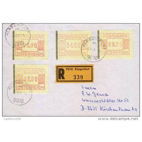 E) 1983 AUSTRIA, FRAMA ATM AUSTRIA, CIRCULATED COVER