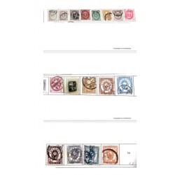 L) 1876 - 1888 JAPAN, JAPANESE EMPIRE STAMPS, KOBAN, SEN, FIVE SEN, EIIFHT SEN, TEN SEN, XF
