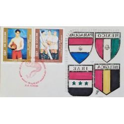 J) 1986 MEXICO, WORLD FOOTBALL CUP CHAMPIONSHIP MEXICO, MEXICAN FOOTBALL FEDERATION, BELGIUM, IRAQ