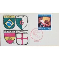 J) 1986 MEXICO, WORLD FOOTBALL CUP CHAMPIONSHIP MEXICO, MEXICAN FOOTBALL FEDERATION, BRAZIL, ALGERIA