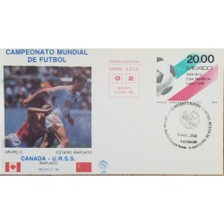 J) 1986 MEXICO, WORLD FOOTBALL CHAMPIONSHIP MEXICO, CANADA-URSS, FDC
