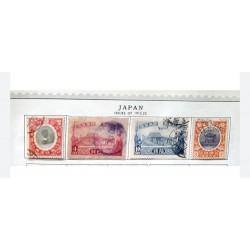 "L) 1915 - 1925 JAPAN, SCOTT 149 3S ORANGE&VIOLET ""IMPERIAL THRONE"", ARCHITECTURE, SCOTT 151 10S ULTRAMARINE"