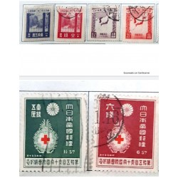 """L) 1929 JAPAN, SCOTT 206 1 1/2S GRAY VIOLET, """"GREAT SHRINES OF ISE"""", RED CROSS BADGE, 6S, GREEN, XF"""