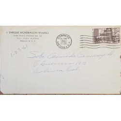 J) 1961 MEXICO, MEXICAN REVOLUTION, NATIONALIZATION OF THE ELECTRICAL INDUSTRY, AIRMAIL, CIRCULATED