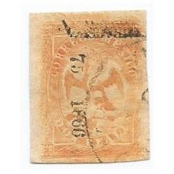 J) 1866 MEXICO, IMPERIAL EAGLE, 2 REALES YELLOW, VERACRUZ DISTRICT