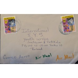 A) 1976, GUATEMALA, LETTER SENT TO FINLAND, AIRMAIL, THIRTY-YEAR OF THE FOUNDATION OF THE UNIVERSITY OF SAN CARLOS STAMP